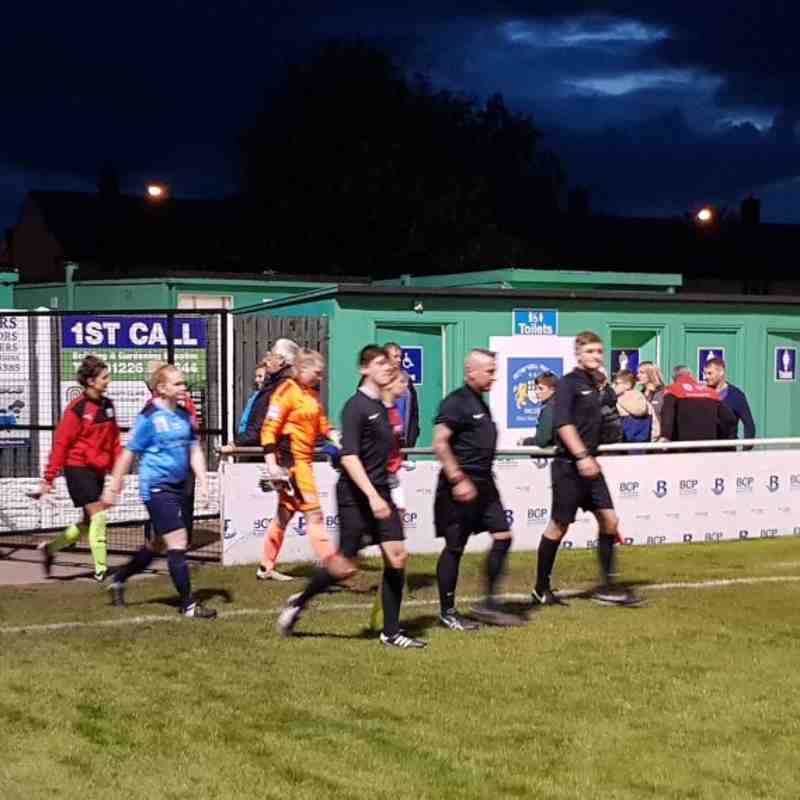 20-09-17 1st team walk out vs Brighouse Town Ladies