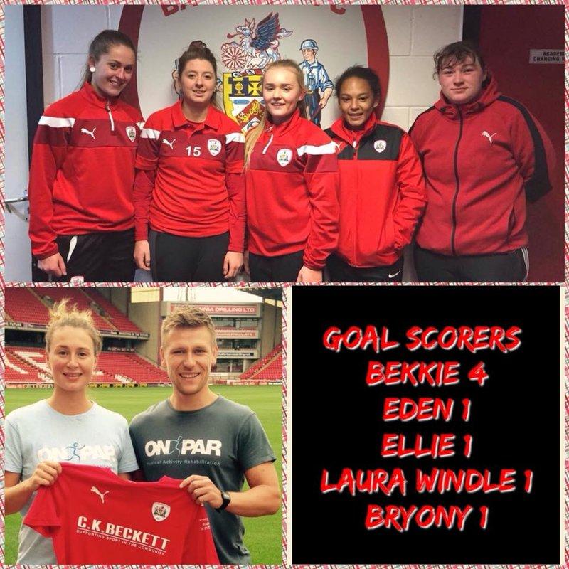 Barnsley FC Ladies Reserves beat Sheffield Wednesday (Reserves) 9 - 1