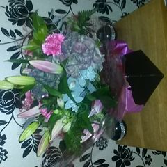 Thank you very much for the flowers it I much appreciated