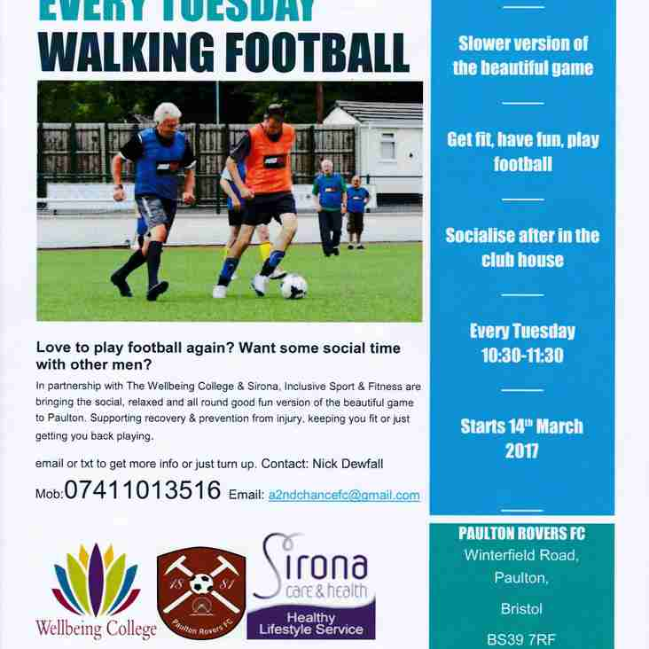 WALKING FOOTBALL COMES TO WINTERFIELD ROAD
