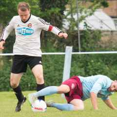 Malvern won a thrilling encounter 4-3 against Stone Old Alleynians with two goals by Luke Corbett and Dave Reynolds.