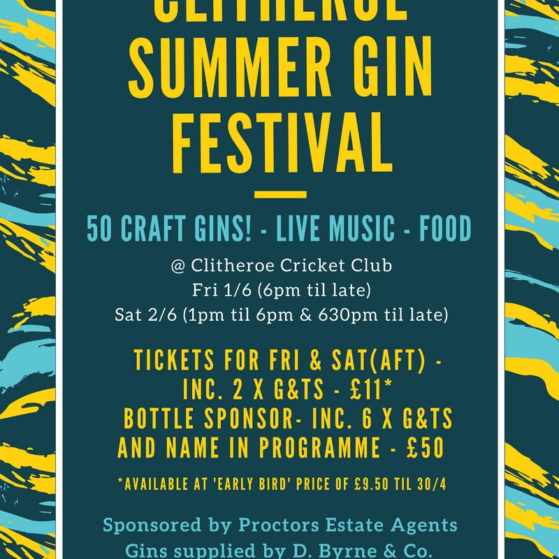 Clitheroe Summer Gin Festival - Bottle Sponsors