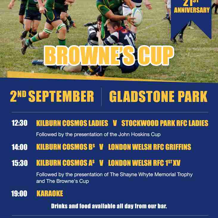 Browne's Cup - Saturday 2nd September