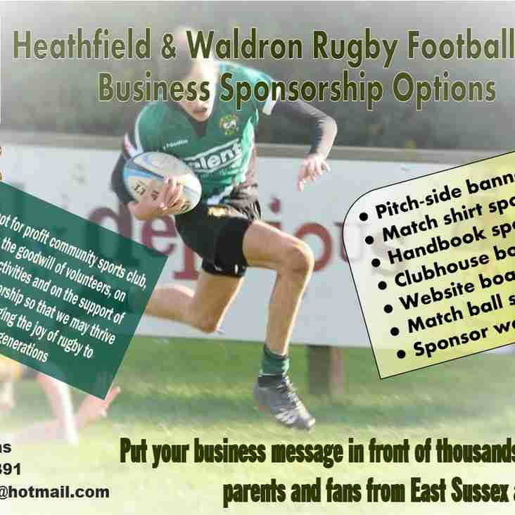 Club Sponsorship Available
