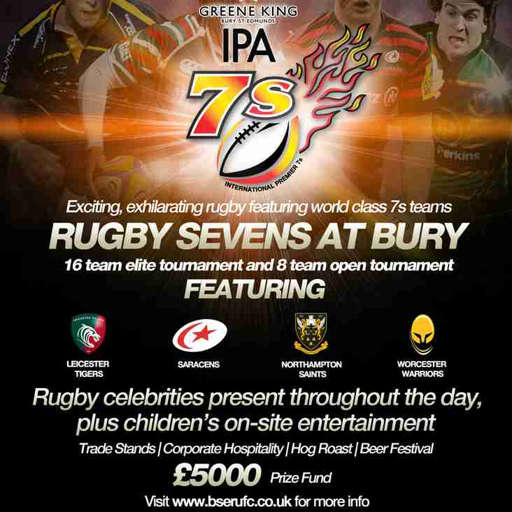 Its the biggest festival of sport in the region! The GK IPA Sevens this Sunday ( and the weather looks great!)