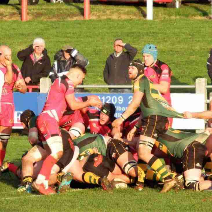 A great Bury performance brings a 20-20 draw... Redruth score in the 17th minute of Extra time to save the game.