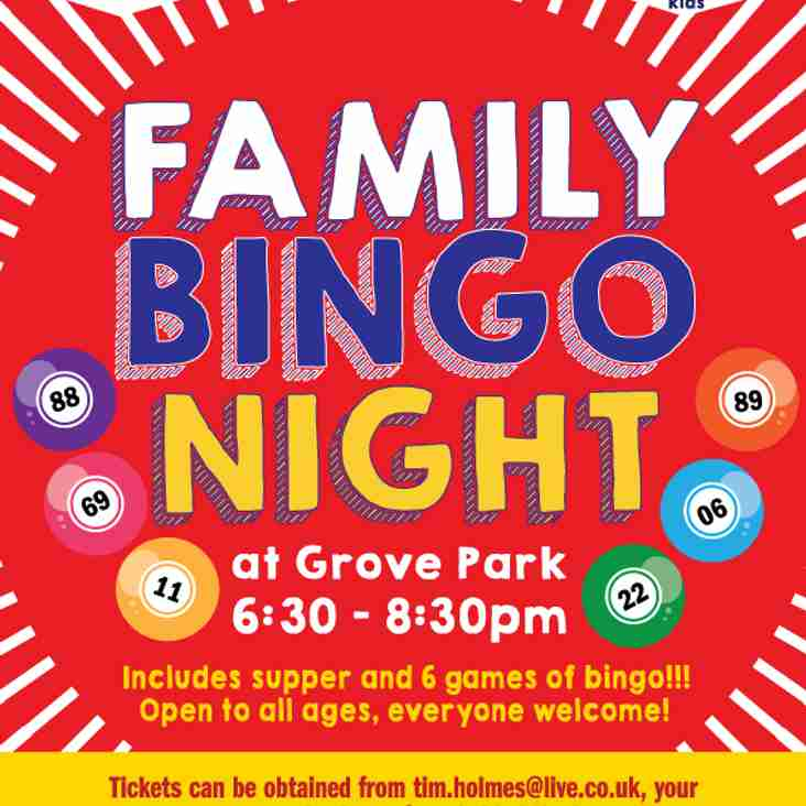 FAMILY BINGO comes to Grove Park