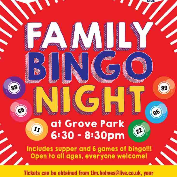 FAMILY BINGO comes to Grove Park