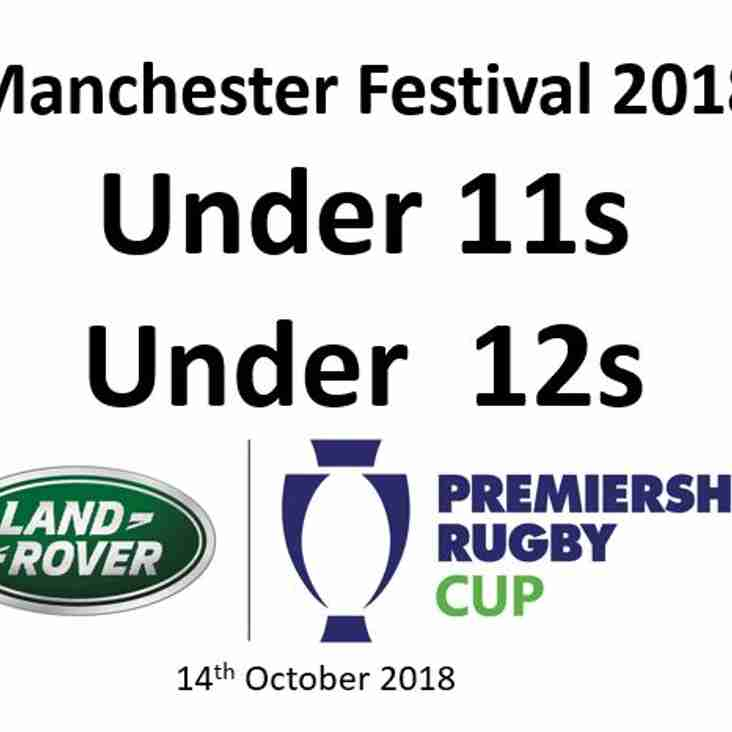 The Land Rover Premiership Rugby Cup at the Manchester Festival Draw -14.10.18