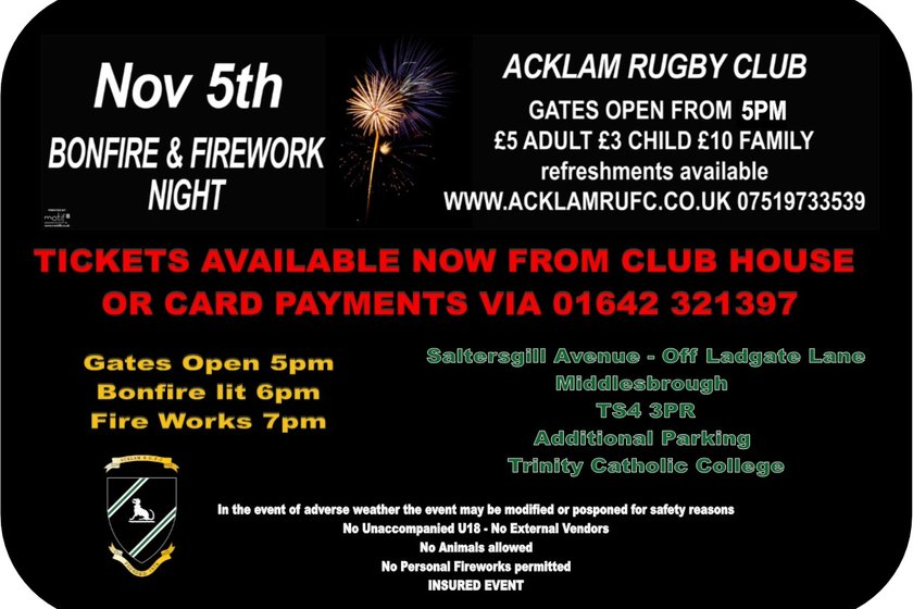 Annual Bonfire & Fireworks Display