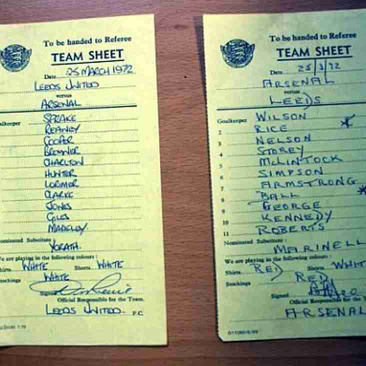 Team Sheets & Fixtures
