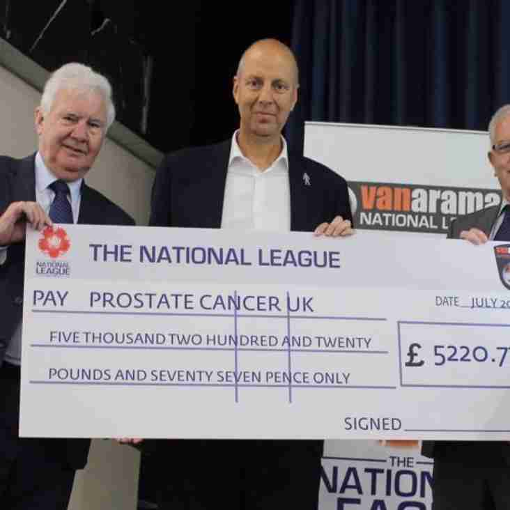 Vanarama National League Continue Driving Donations for Prostate Cancer