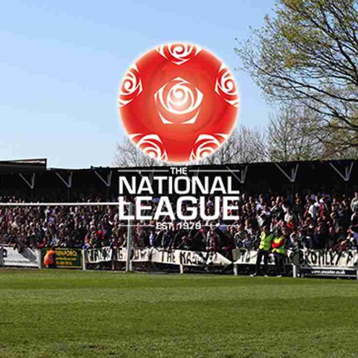 National League Fixture Changes