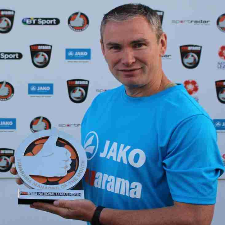 Wilkin Comes Out On Top Of National League North Bosses Award For August