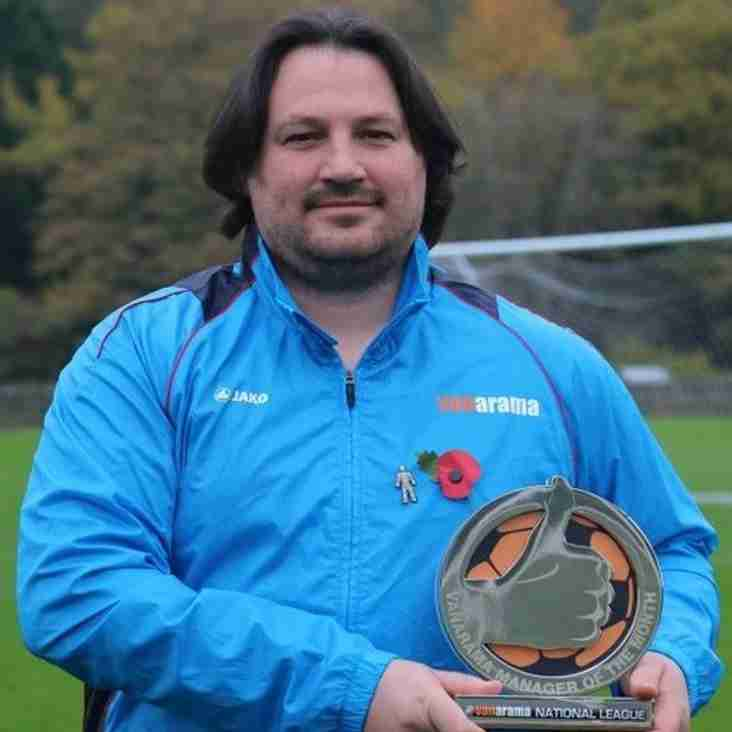 Harrison Crowned Manager Of The Month For October