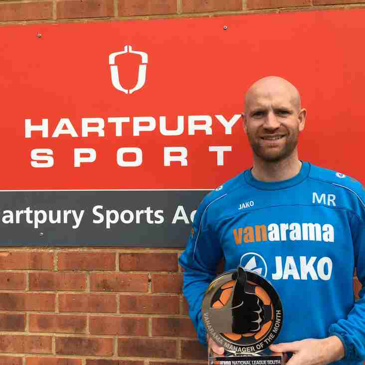 New Boss Richards Wins February Award For National League South