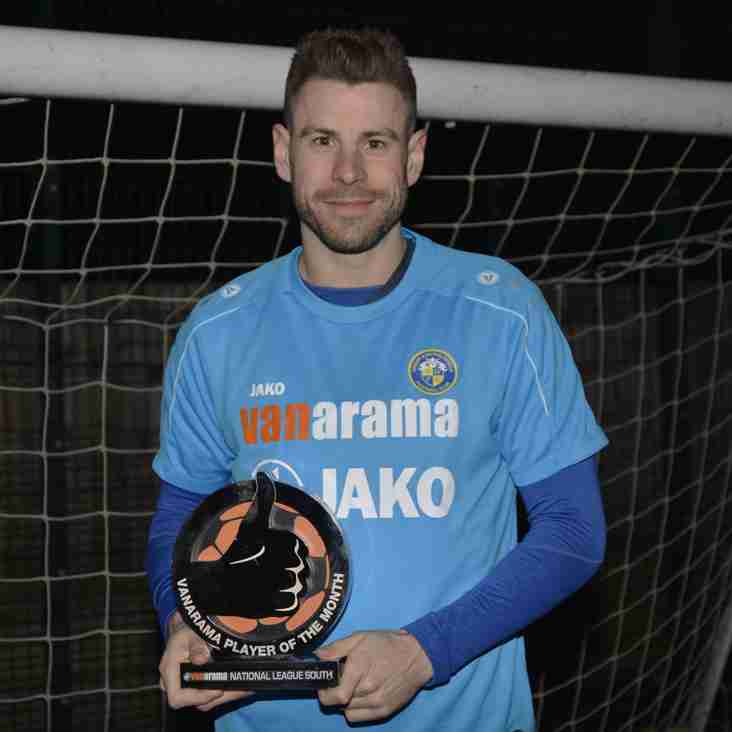 Hawks` Rory Williams Wins February Player Award for National League South