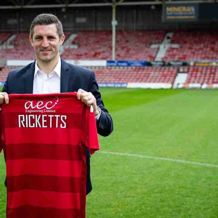Ricketts Appointed As The New Manager At The Racecourse