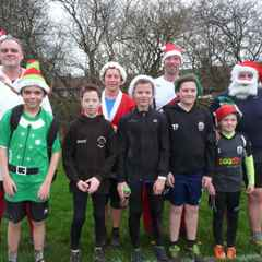 Fun at the Santa Park Run
