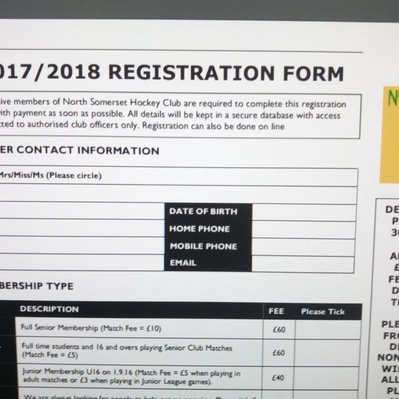Registration process 2017-18 season