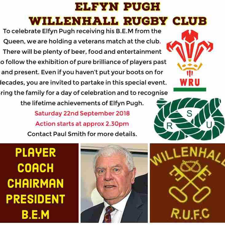 Elfyn Pugh Veterans Match