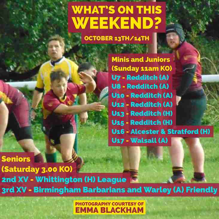 The Weekend's matches 13th and 14th October
