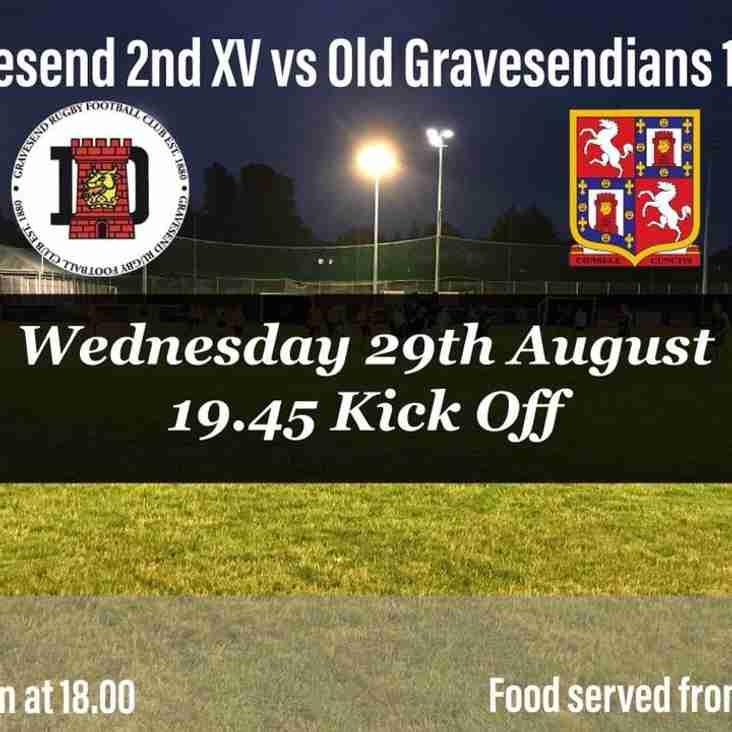Gravesend 2nd XV v O'G's 1st XV