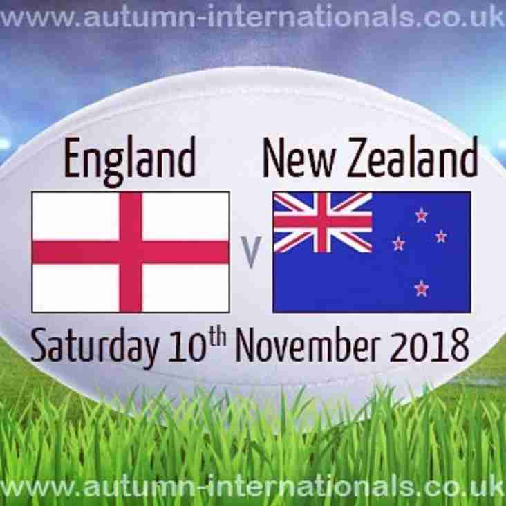 All Autumn Internationals on the Big Screen at the Club from 14:30 today