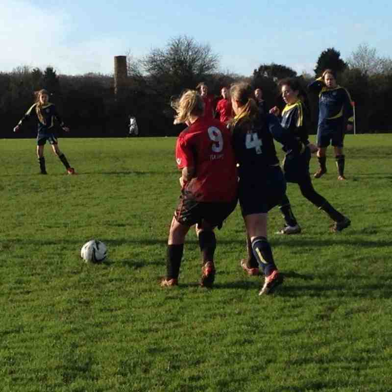 Redditch  Girls U15 3 v 1 Welland Juniors 10/1/15
