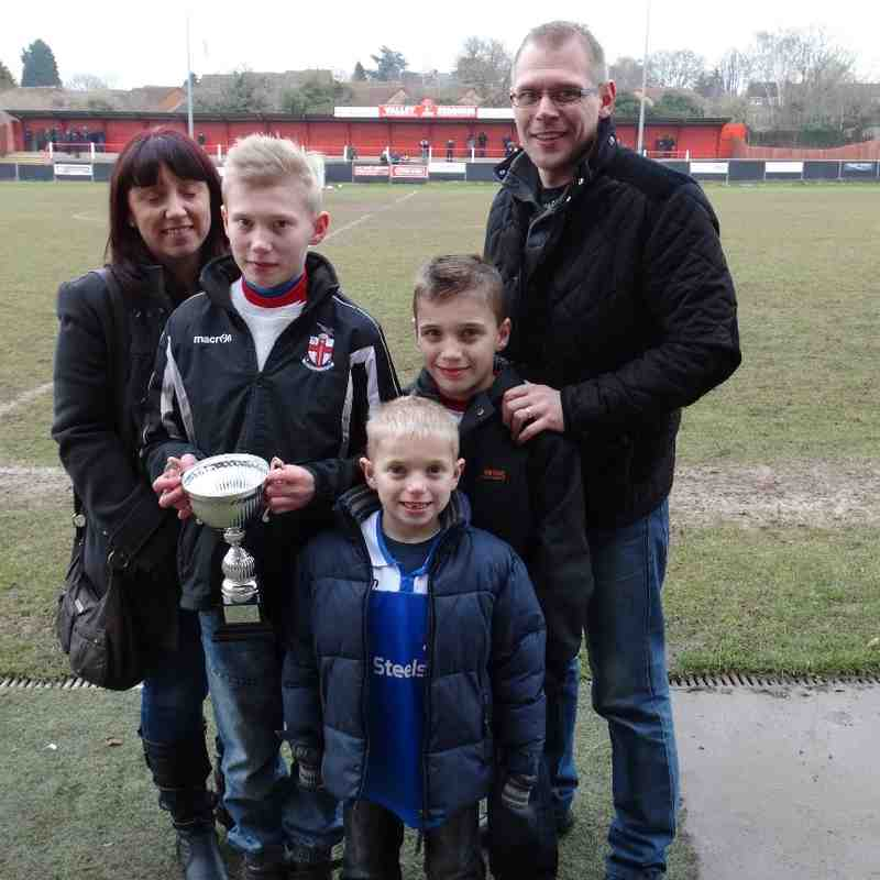 Lewis Espley U12 Player of the Month December 2014