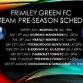 1st Team Pre Season Friendlies