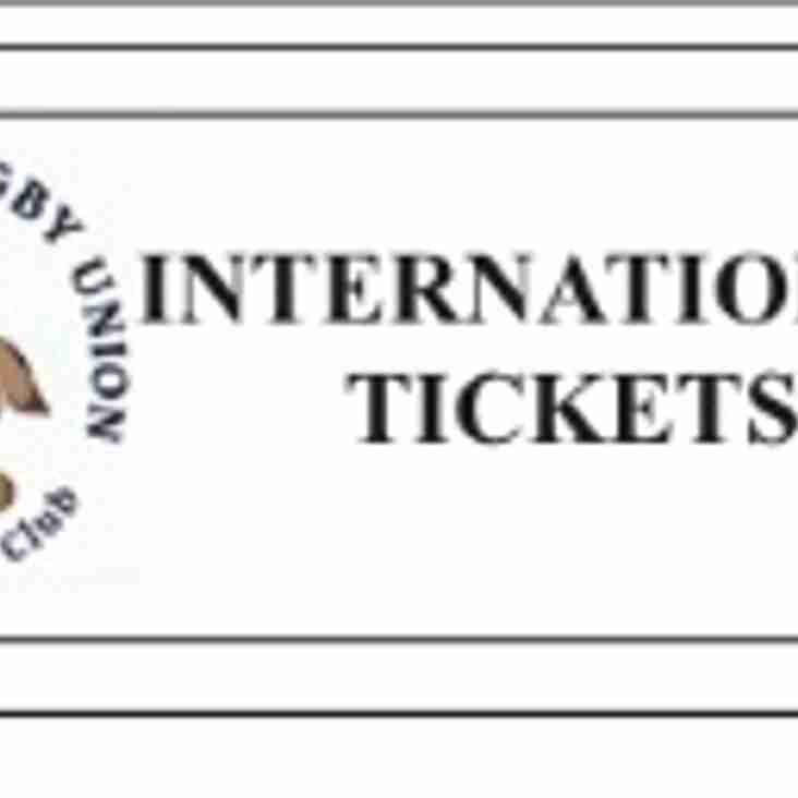 AUTUMN INTERNATIONAL TICKET INFORMATION