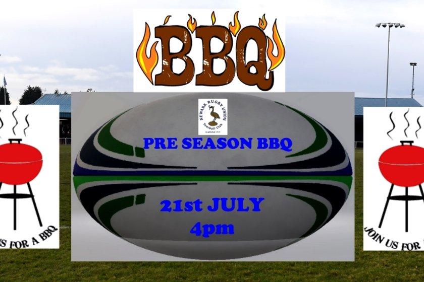PRE SEASON BBQ - SATURDAY 21ST JULY