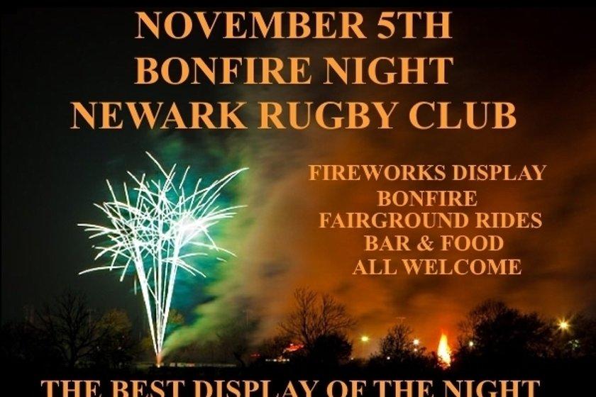 BONFIRE NIGHT AT NEWARK RUGBY CLUB