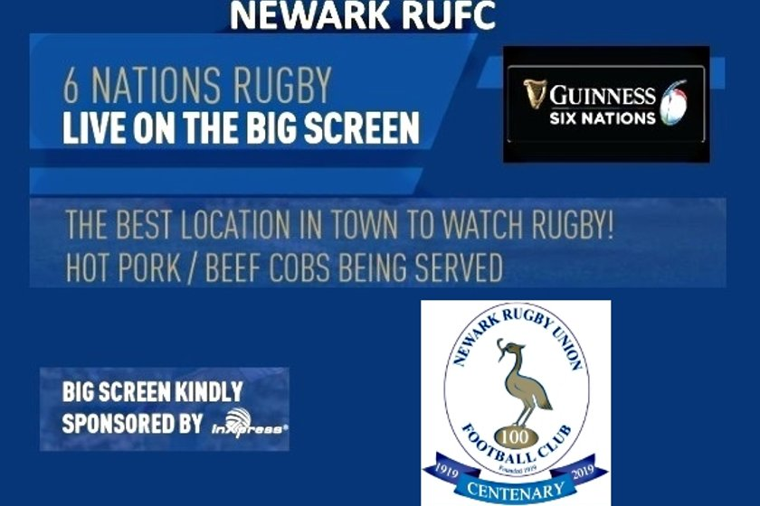 THE 6 NATIONS GAME ON NRUFCs BIG SCREEN