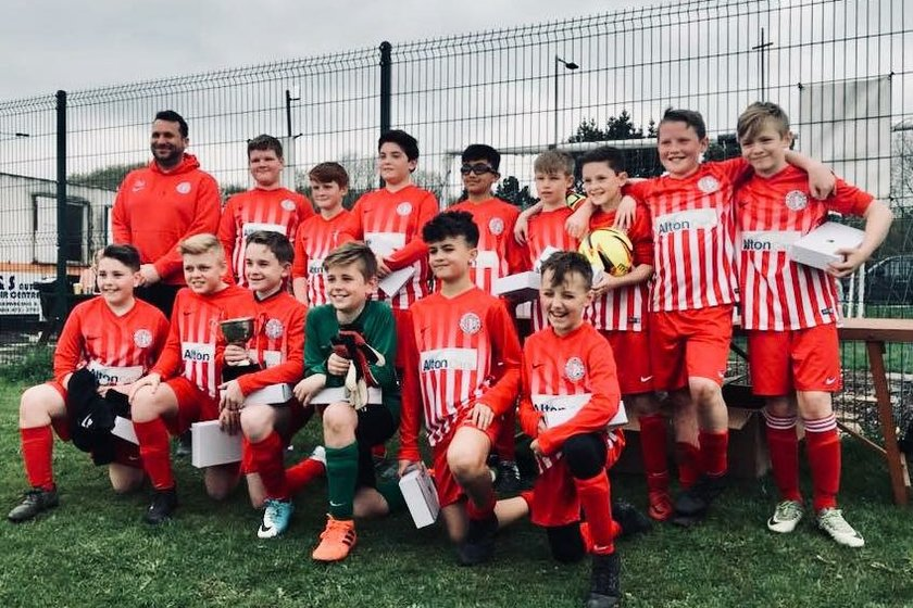 2018 Pogmoor U12s league and cup winners