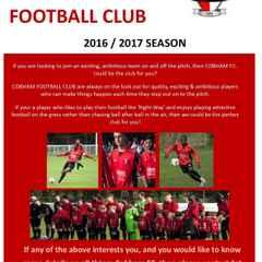 Cobham FC-Pre Season Training 2016/17