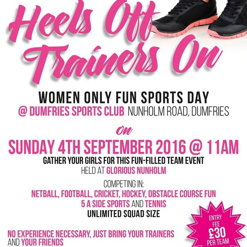 Women Only Charity Fun Sports Day – Sunday Sep 4th