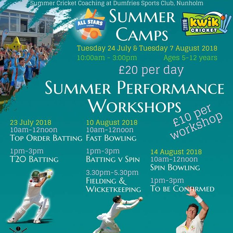 Summer Cricket Camps and Workshops