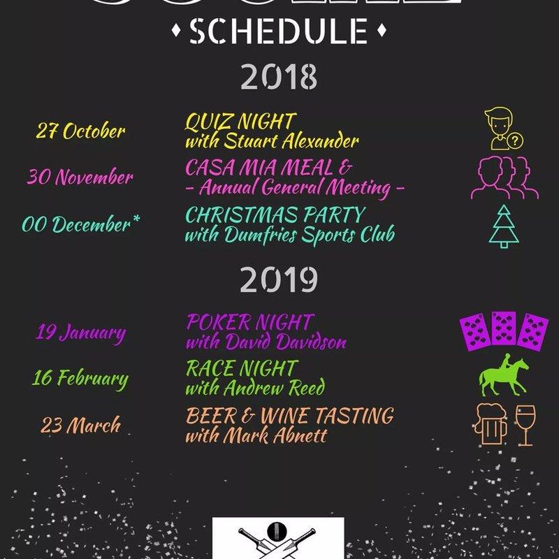 Your Winter Social Schedule
