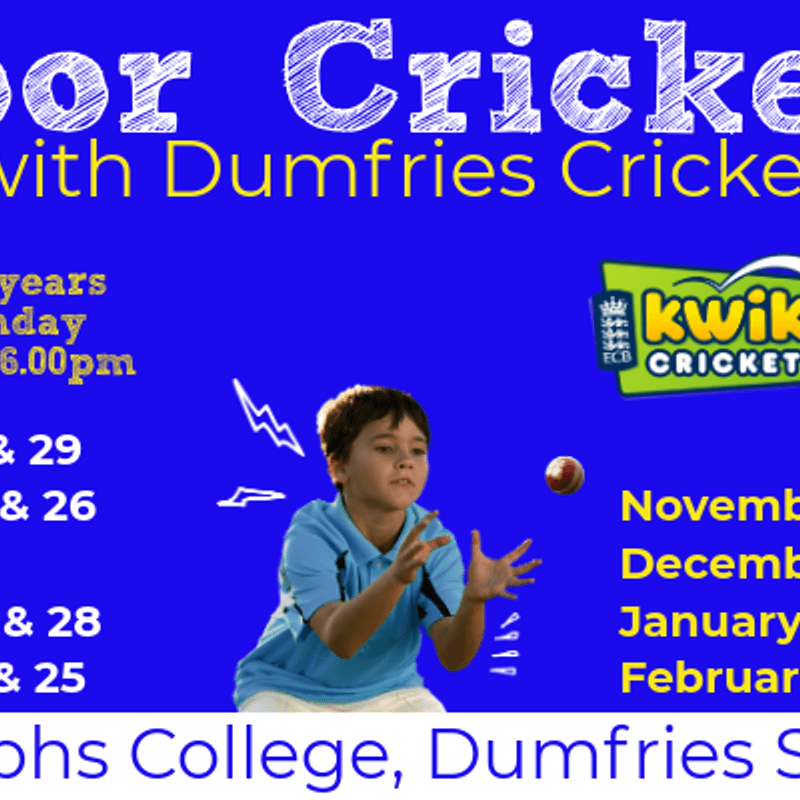 Monday Indoor Junior Cricket from 8 Oct