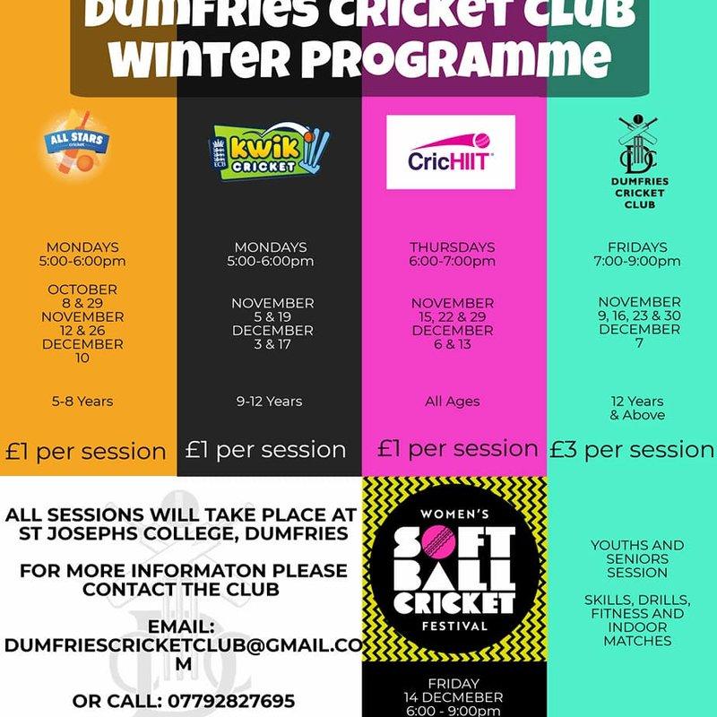 Updated Winter Cricket Programme