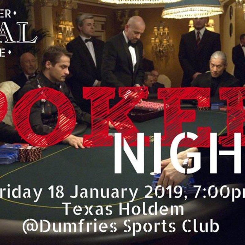 The Poker Night is on Fri 18th Jan