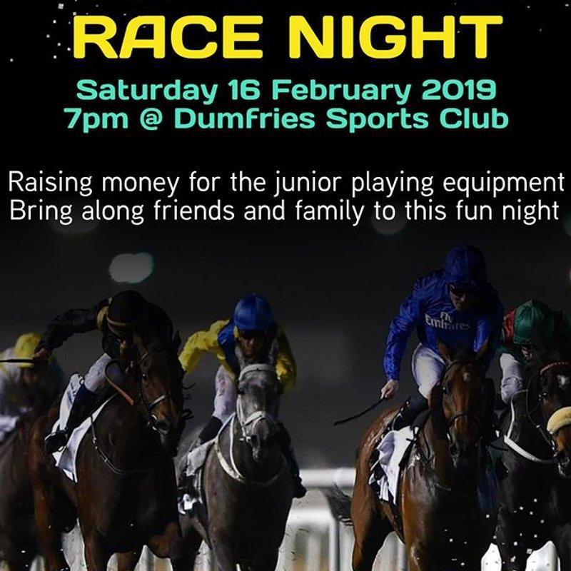 THIS SATURDAY - Race Night Social (16th)