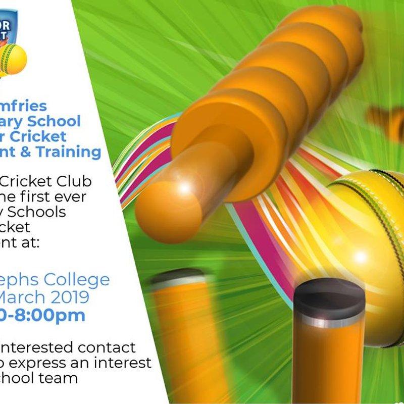 Secondary Schools Indoor Cricket Tournament