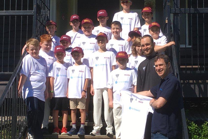 Filtermist sponsor Beacon CC Under 11 Sparks squad