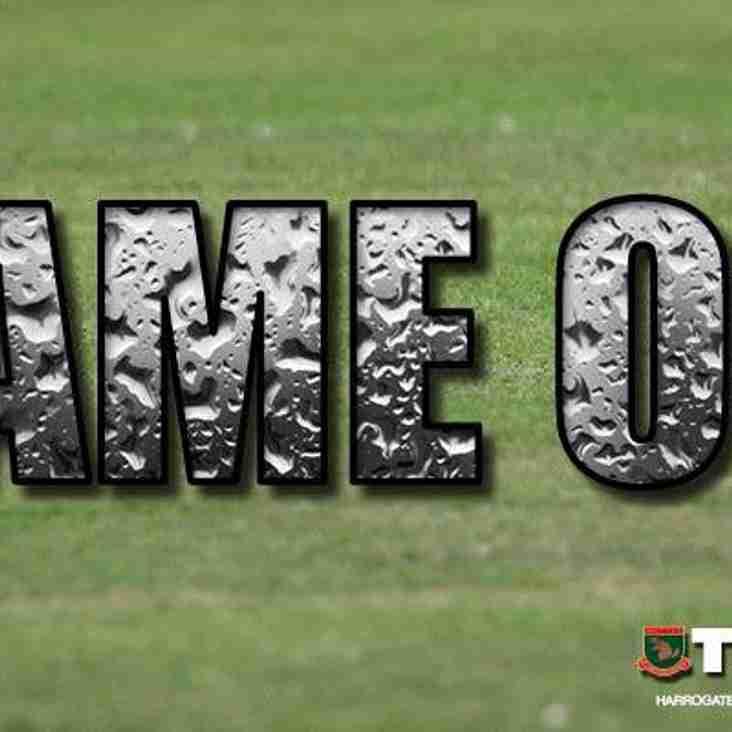 Match postponed: Harrogate Railway v Warrington Town