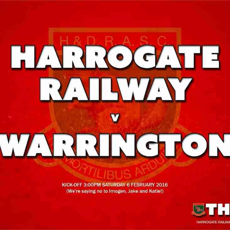 Next Match: Harrogate Railway v Warrington