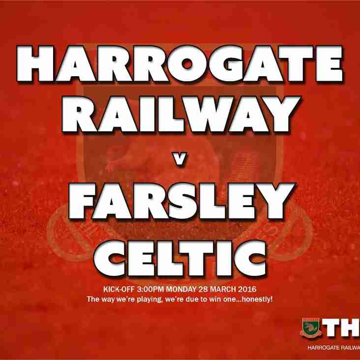 Next Match: Harrogate Railway v Farsley Celtic