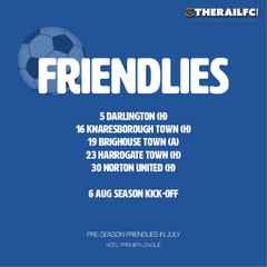 Summer 2016 Pre-season Fixtures